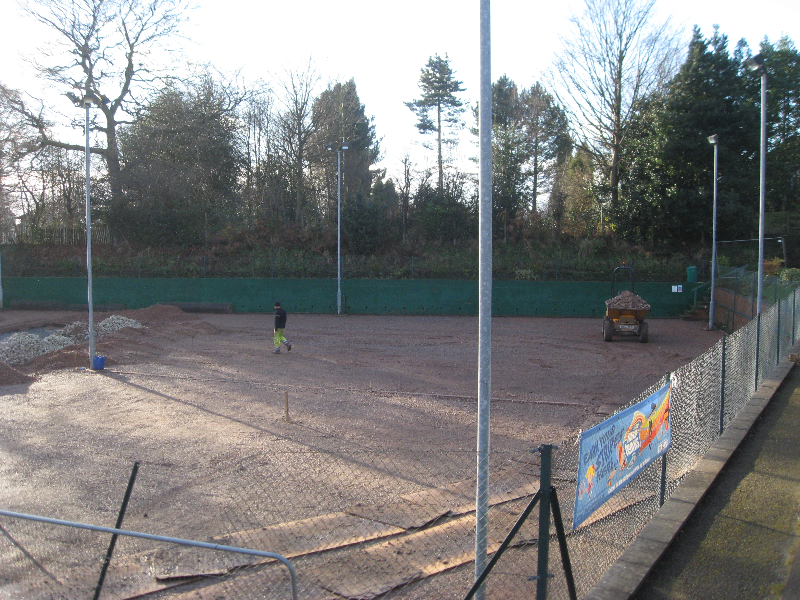 Day 19 Dec 07 Large stone laying to stabilise court
