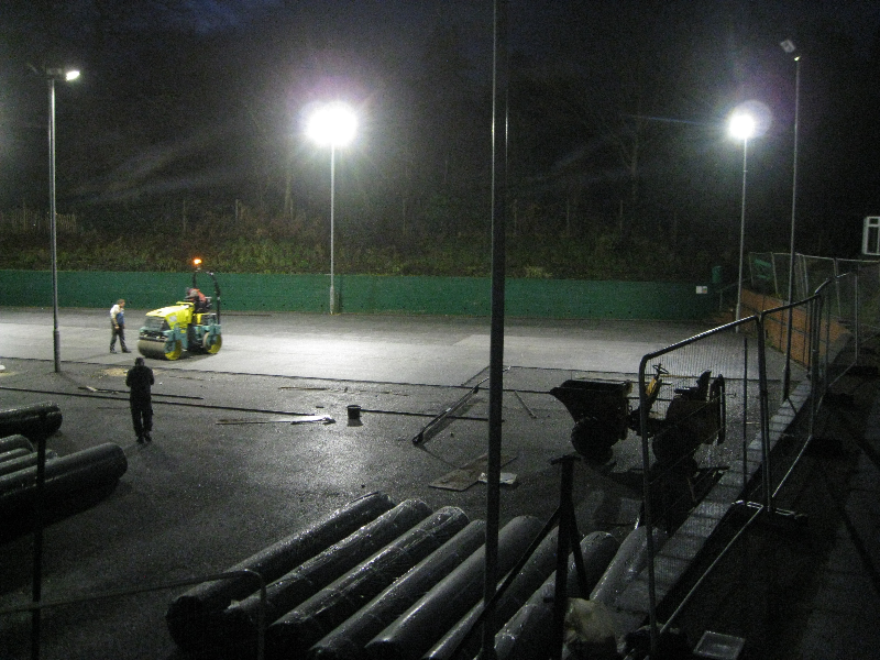 Day 25 Dec 12 Top tarmac levelling