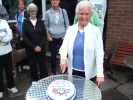 Dorothy Cuts The Cake at the 90th Celebration