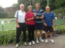 2018 Mixed Doubles Winners with the Men's Captain and President