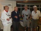 John, Derek,Winner Terry and Stan with their Trophies at the Over 80's Tournament