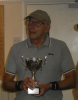 Winner Terry Fernyhough at the Over 80's Tournament