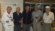 The Competitors with Organiser Phil Clarke at the Over 80's Tournament