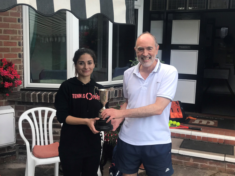 2019 Captains' and President's Day Winners Adina Ardeleanu and Roger Simth