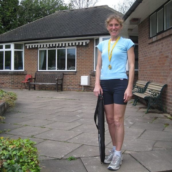 Basford salutes Catherine Goldstraw.... Mow Cop Killer Mile Veteran Winner 2010!